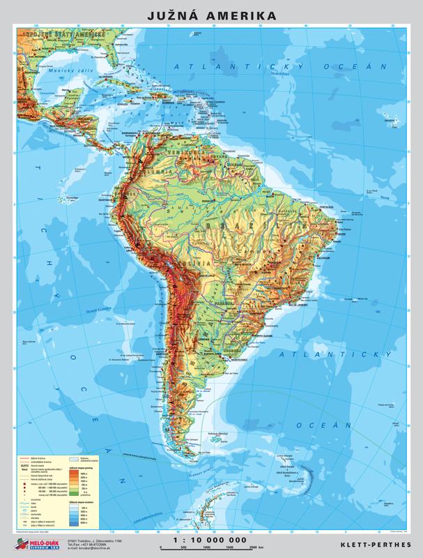 Mapa Mapa J Ameriky