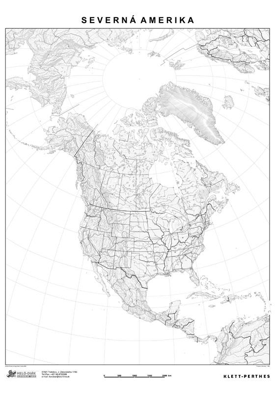 Slepa Mapa Severnej Ameriky M17 S
